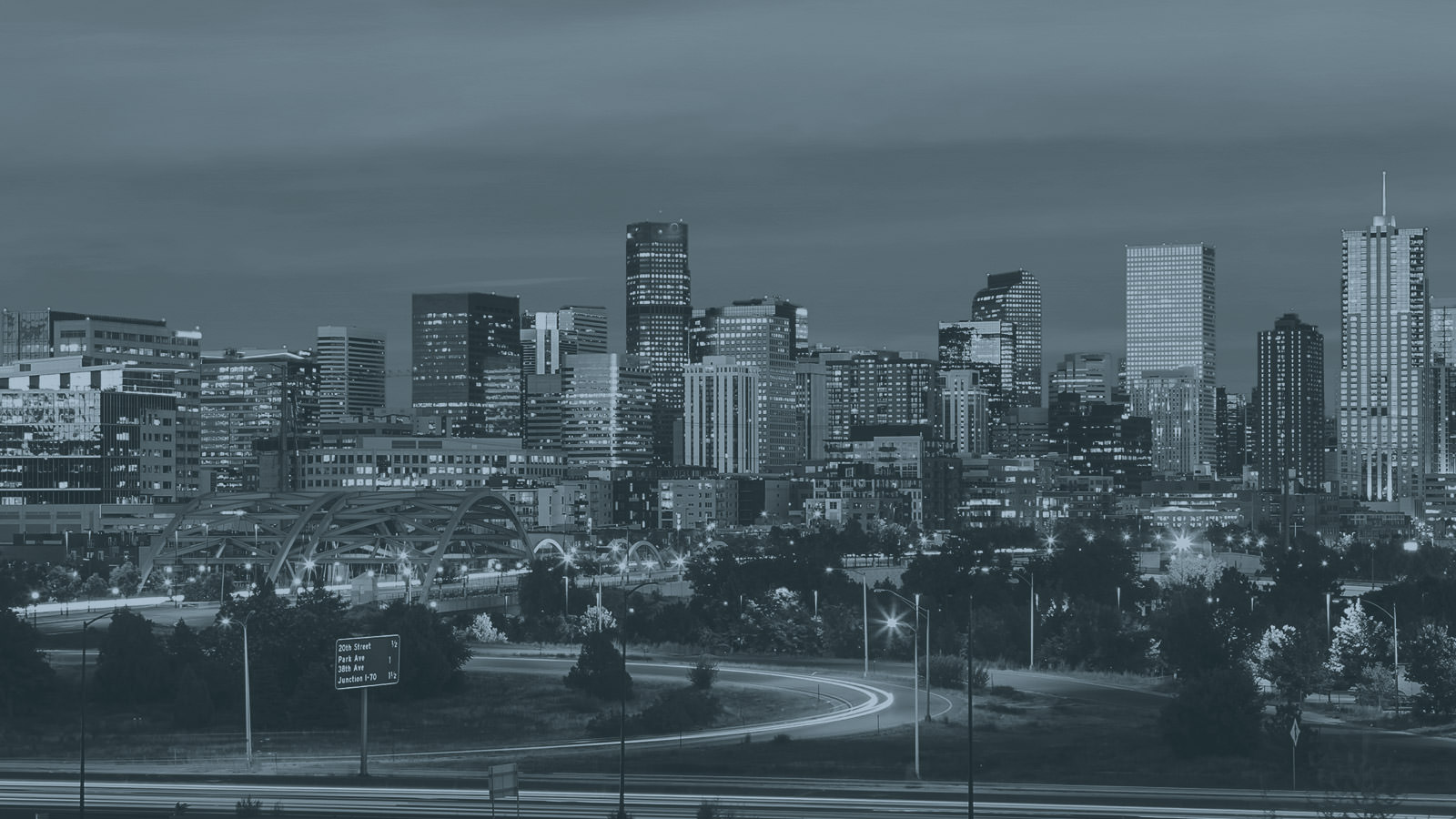 Denver Skyline in B&W