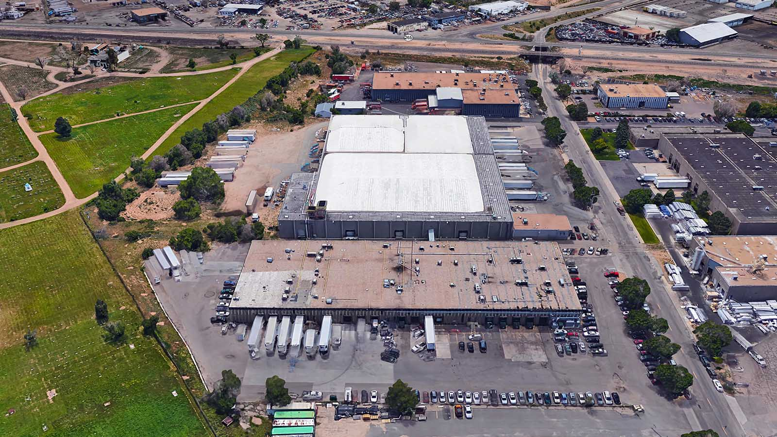 Western Food Center Aerial