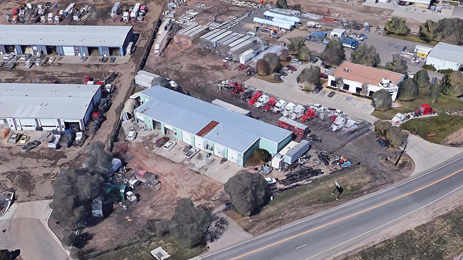 9685 Brighton Road Denver Aerial 2